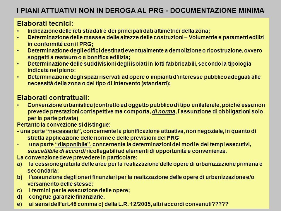 IL PIANO DELLE REGOLE RIFERIMENTO NORMATIVO (L.R.
