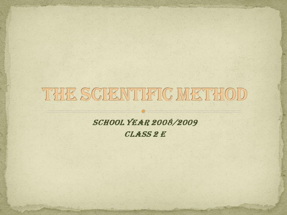 SCHOOL YEAR 2008/2009 CLASS 2 E