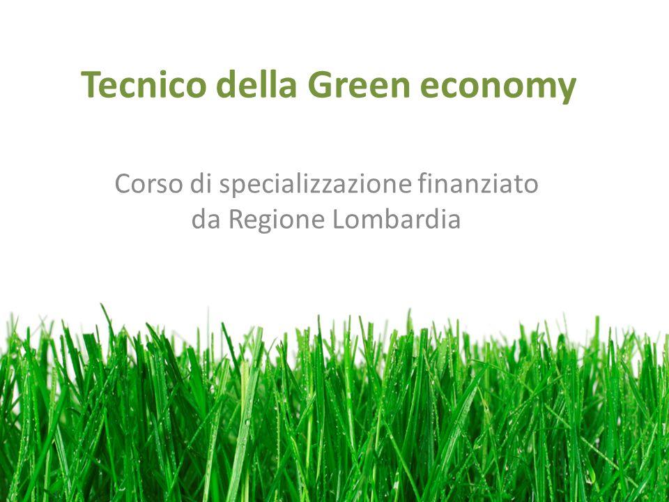 Tecnico della Green economy Corso di specializzazione finanziato da Regione Lombardia