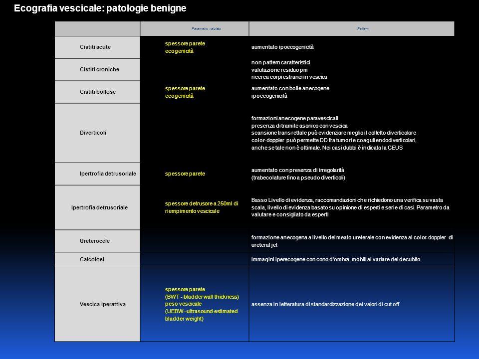 Ecografia del pavimento pelvico Trans- perineale IntroitaleTrans-vaginale Trans- rettale Strumentazione Sonda convex 3.5-5 MHz Sonda sector endfire 5- 7,5 MHz Sonda lineare biplana 7.5 MHz Sonda lineare biplana 7.5 MHz Posizione pazientelitotomica ortostatismo litotomica ortostatismo Qualità immagine+++++ Misura mobilità++ +++ Invasività+++++++ Artefatti nei cistoceli 3-4 grado ++ ++++