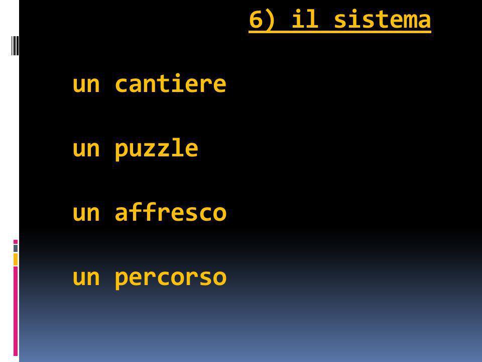 6) il sistema un cantiere un puzzle un affresco un percorso