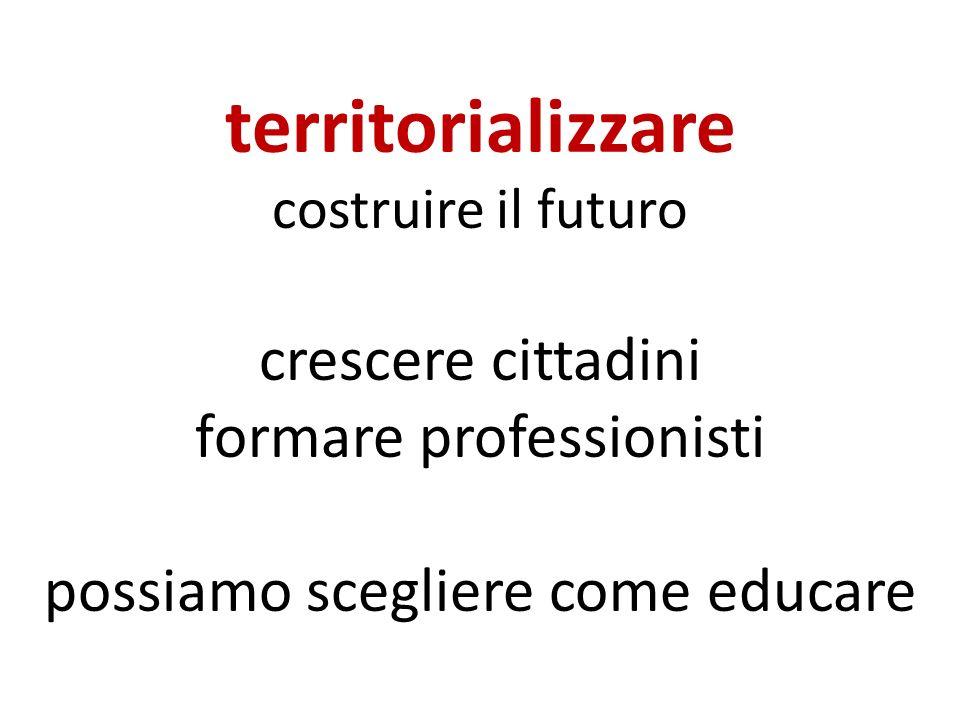 territorializzare costruire il futuro crescere cittadini formare professionisti possiamo scegliere come educare