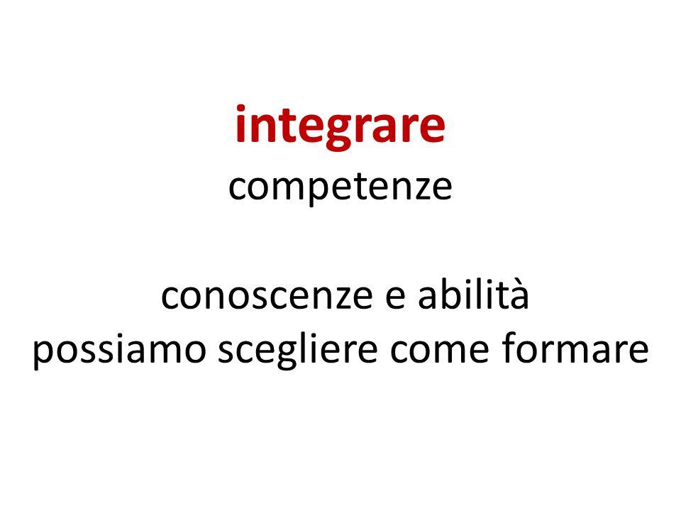 integrare competenze conoscenze e abilità possiamo scegliere come formare