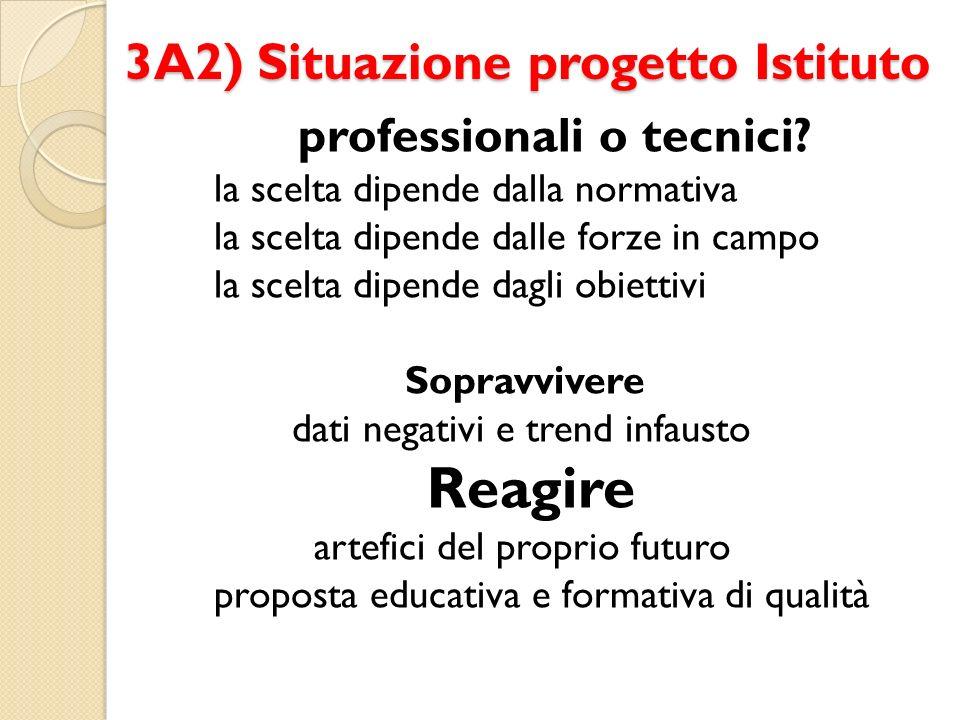 3A2) Situazione progetto Istituto professionali o tecnici.