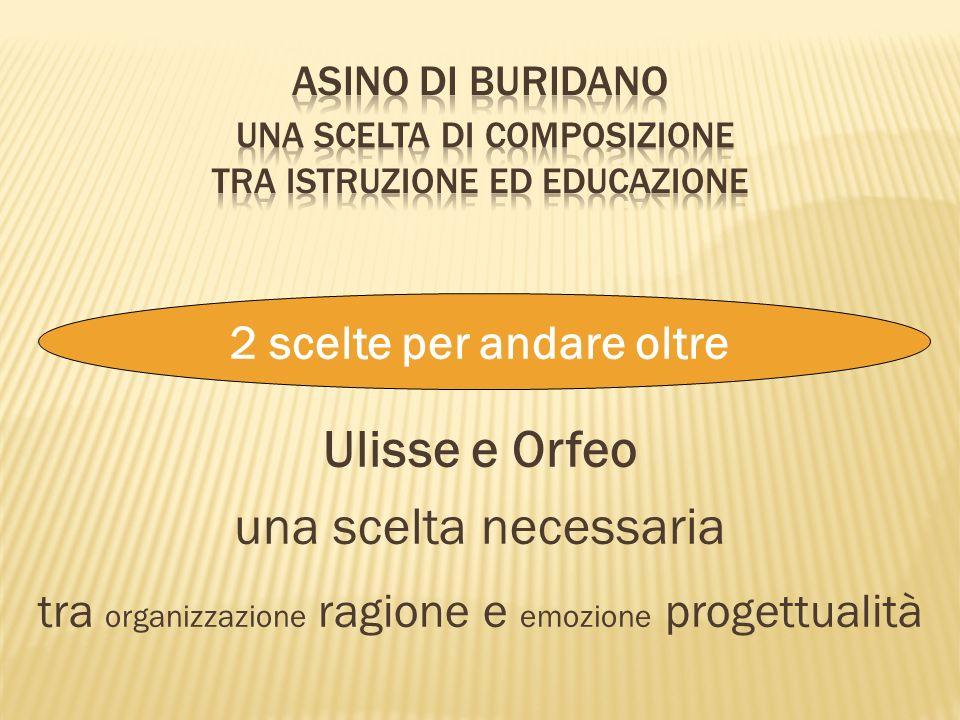 Ulisse e Orfeo una scelta necessaria tra organizzazione ragione e emozione progettualità 2 scelte per andare oltre