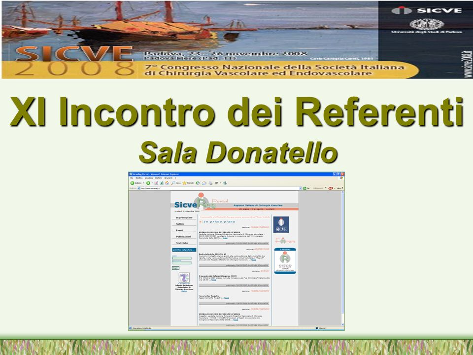 Programma: Saluto e Relazione Annuale del Coordinatore Saluto e Relazione Annuale del Coordinatore D.