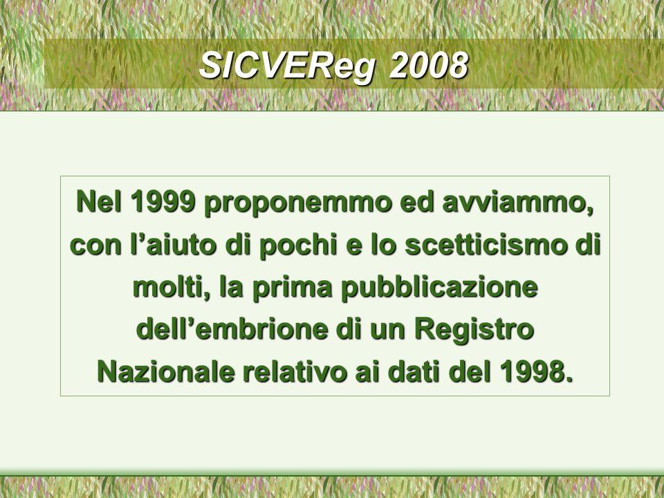 SICVEReg 2008: Report Dati 2007 SOCIETA ITALIANA DI CHIRURGIA VASCOLARE ED ENDOVASCOLARE (SICVE) REGISTRO ITALIANO DI CHIRURGIA VASCOLARE SICVEREG Volume n.