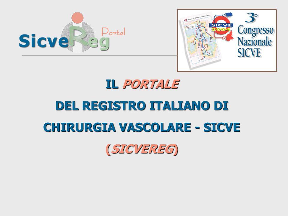 IL PORTALE DEL REGISTRO ITALIANO DI CHIRURGIA VASCOLARE - SICVE (SICVEREG)