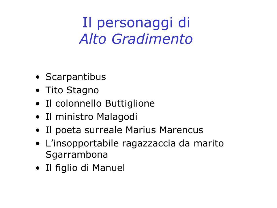 Il personaggi di Alto Gradimento Scarpantibus Tito Stagno Il colonnello Buttiglione Il ministro Malagodi Il poeta surreale Marius Marencus Linsopporta