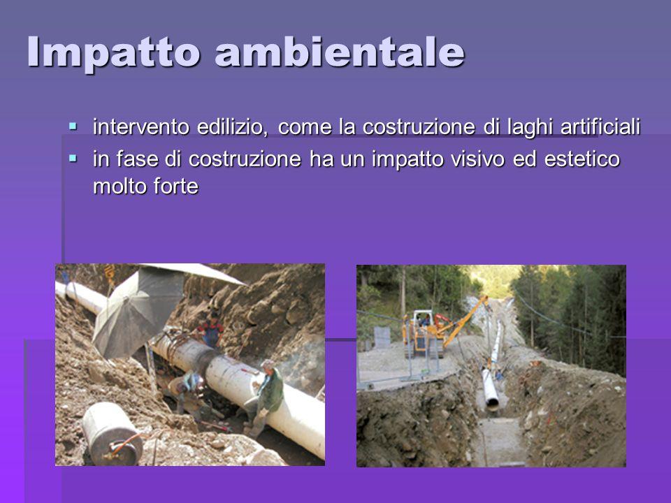 Impatto ambientale intervento edilizio, come la costruzione di laghi artificiali intervento edilizio, come la costruzione di laghi artificiali in fase