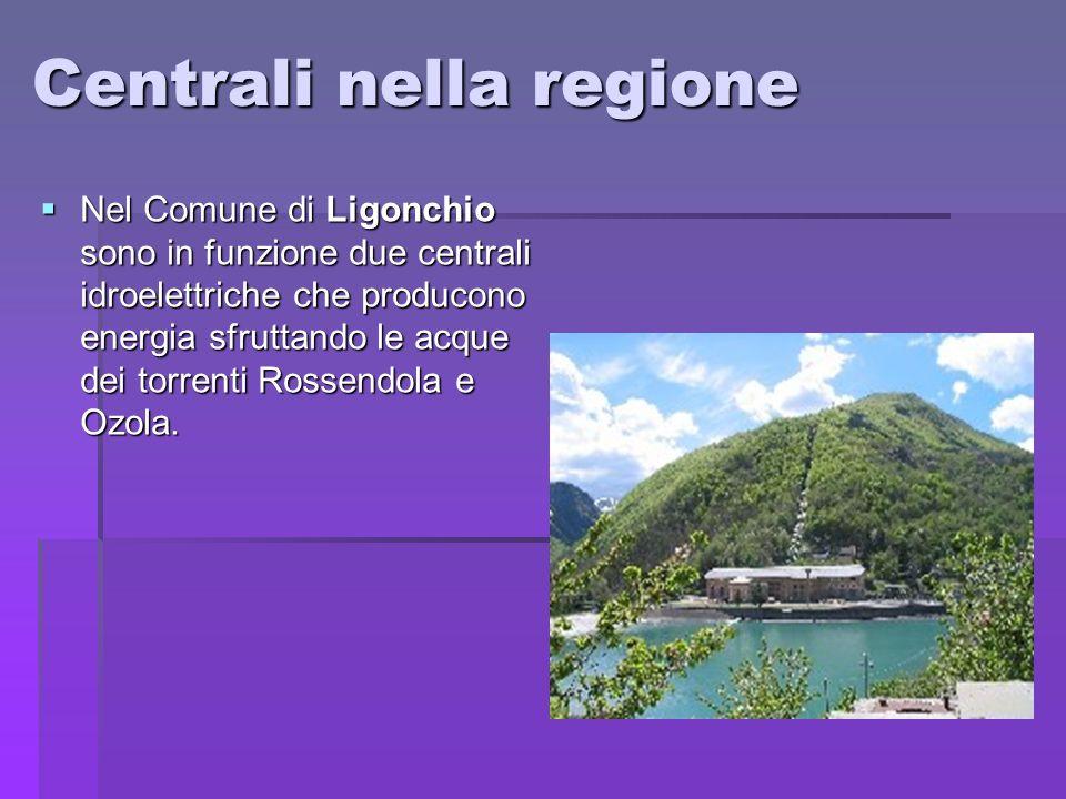 Centrali nella regione Nel Comune di Ligonchio sono in funzione due centrali idroelettriche che producono energia sfruttando le acque dei torrenti Ros