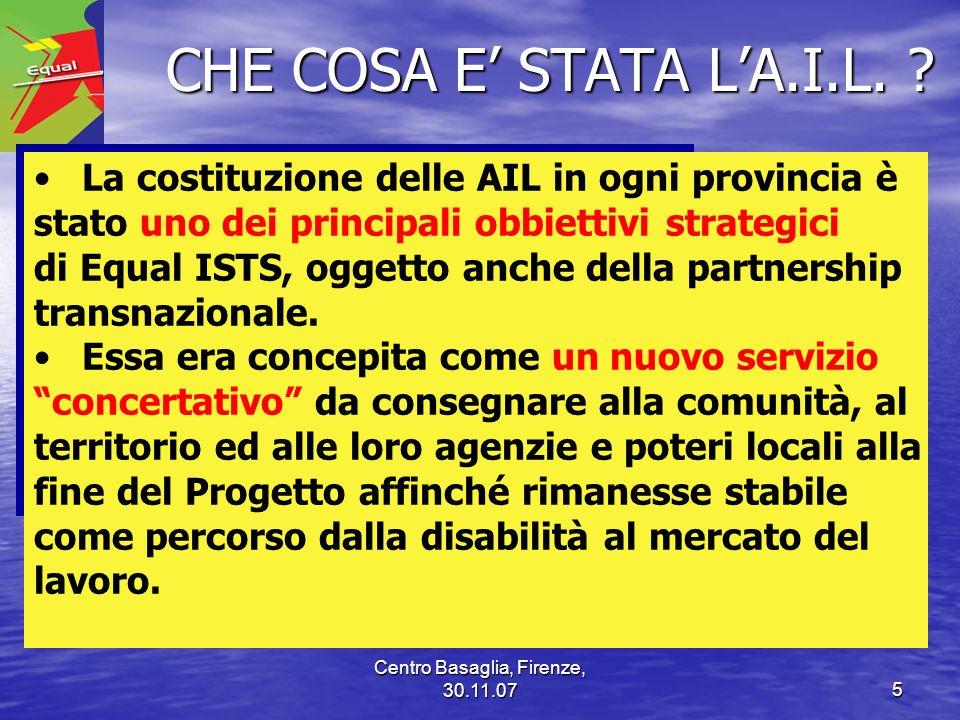 Centro Basaglia, Firenze, 30.11.076 COME E STATA DEFINITA LAIL.