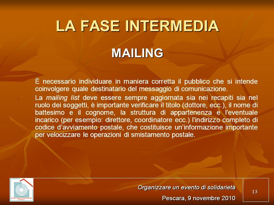 13 LA FASE INTERMEDIA MAILING 1.1.