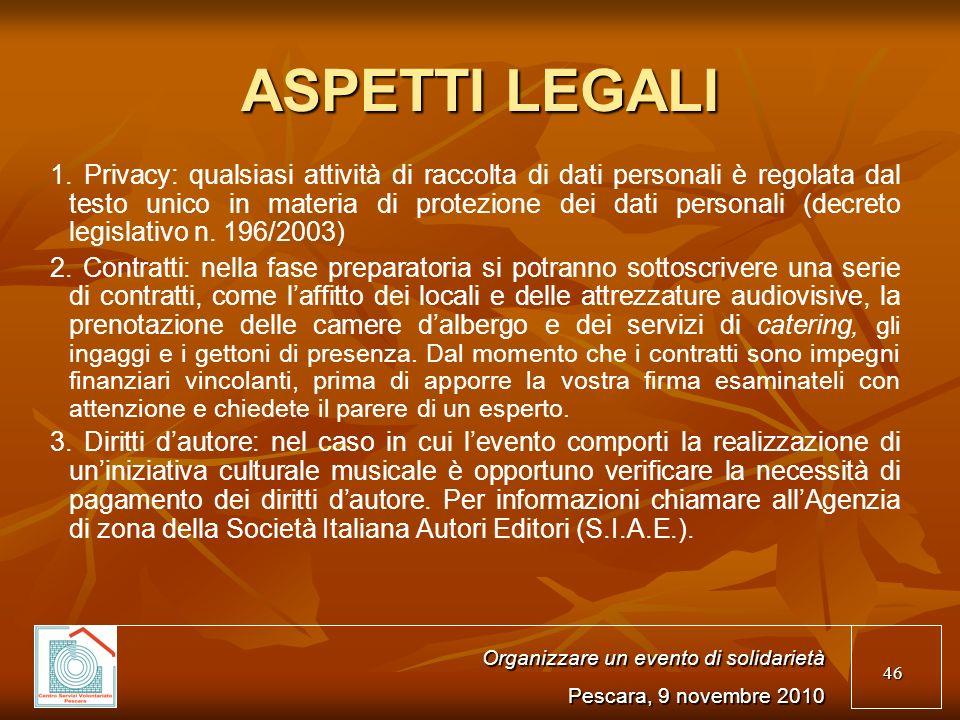 46 ASPETTI LEGALI 1.