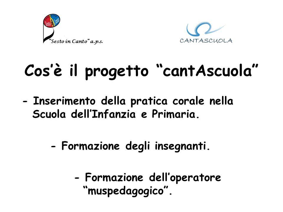 Cosè il progetto cantAscuola - Inserimento della pratica corale nella Scuola dellInfanzia e Primaria.