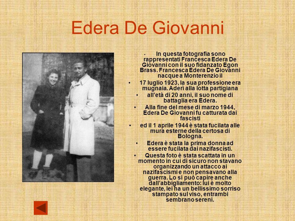 Edera De Giovanni In questa fotografia sono rappresentati Francesca Edera De Giovanni con il suo fidanzato Egon Brass.