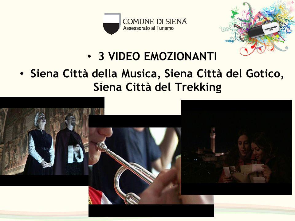 3 VIDEO EMOZIONANTI Siena Città della Musica, Siena Città del Gotico, Siena Città del Trekking