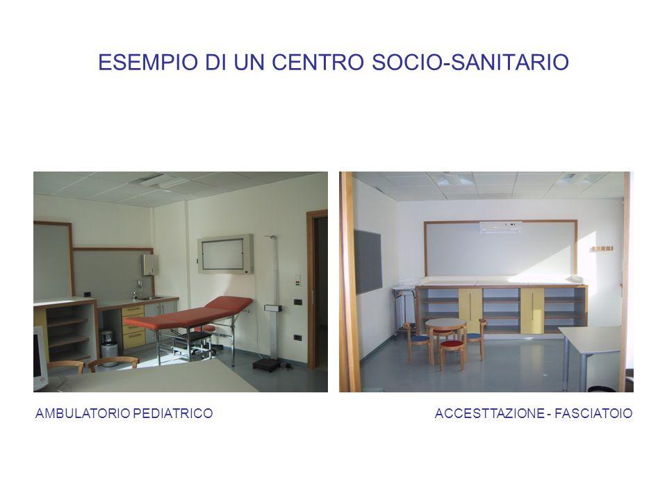 ESEMPIO DI UN CENTRO SOCIO-SANITARIO AMBULATORIO PEDIATRICOACCESTTAZIONE - FASCIATOIO