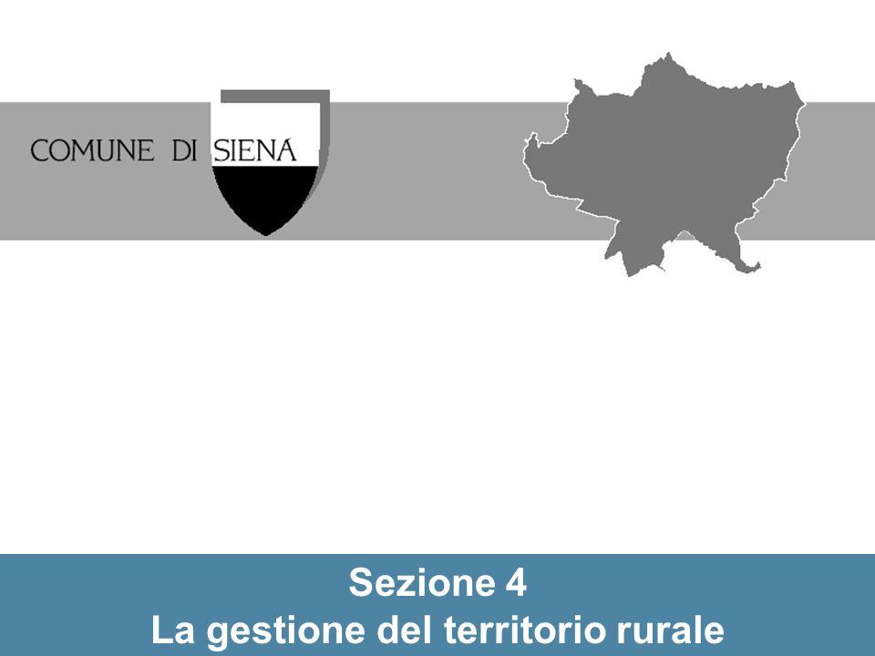 Sezione 4 La gestione del territorio rurale