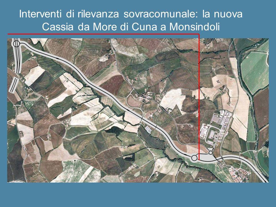 Interventi di rilevanza sovracomunale: la nuova Cassia da More di Cuna a Monsindoli