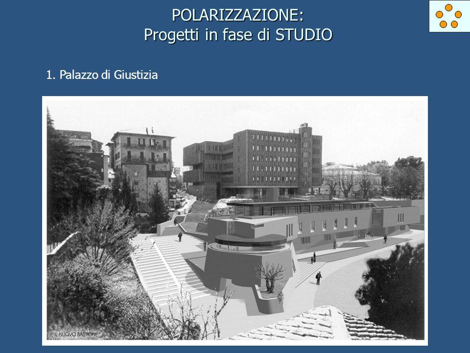 POLARIZZAZIONE: Progetti in fase di STUDIO 1. Palazzo di Giustizia