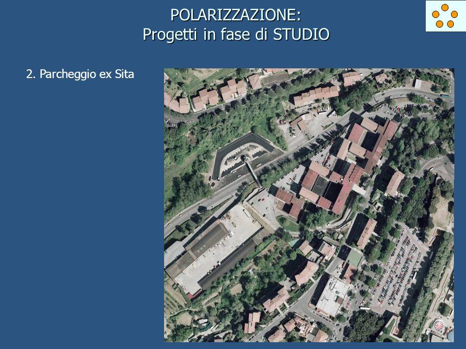POLARIZZAZIONE: Progetti in fase di STUDIO 2. Parcheggio ex Sita