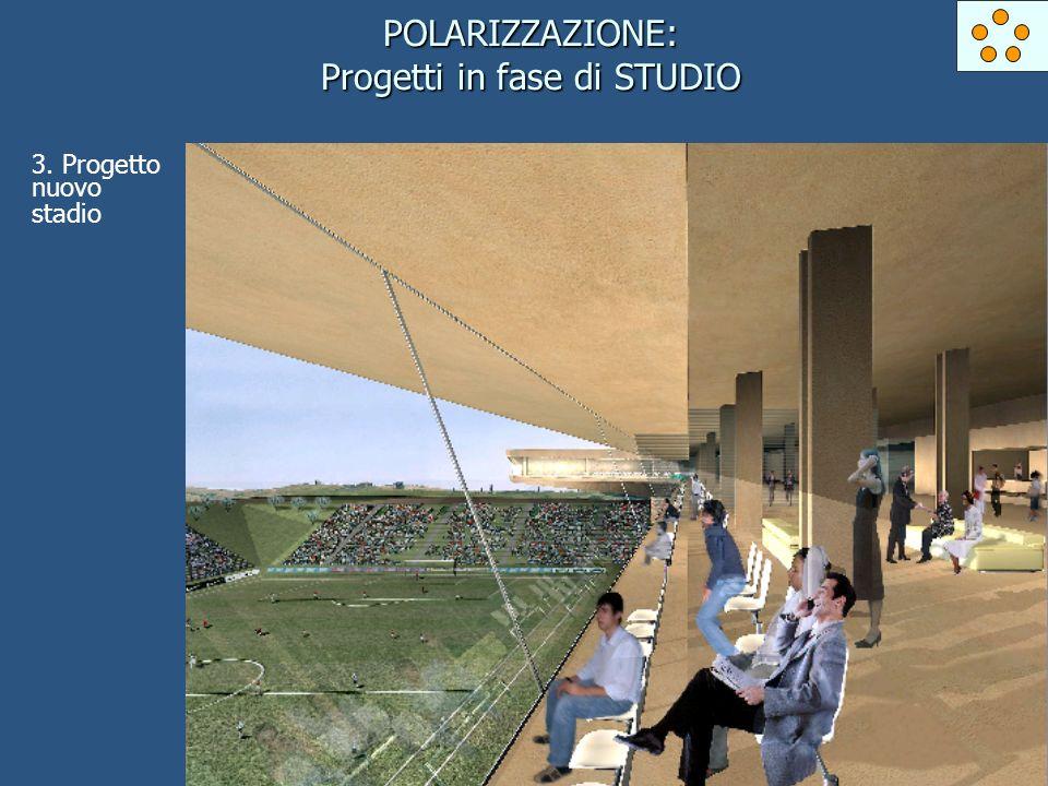 POLARIZZAZIONE: Progetti in fase di STUDIO 3. Progetto nuovo stadio