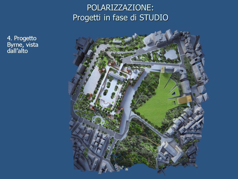 4. Progetto Byrne, vista dallalto POLARIZZAZIONE: Progetti in fase di STUDIO