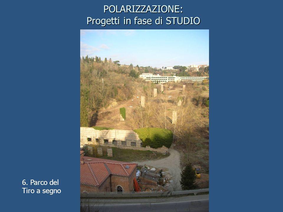 6. Parco del Tiro a segno POLARIZZAZIONE: Progetti in fase di STUDIO
