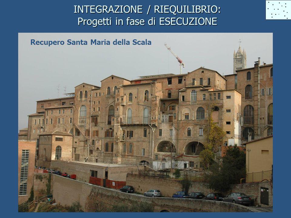 INTEGRAZIONE / RIEQUILIBRIO: Progetti in fase di ESECUZIONE Recupero Santa Maria della Scala