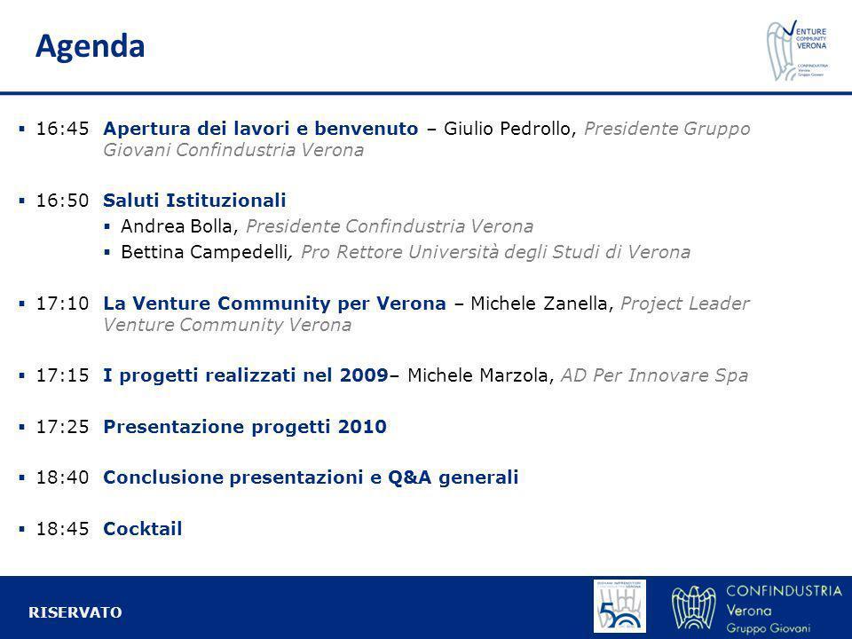 Agenda d 16:45Apertura dei lavori e benvenuto – Giulio Pedrollo, Presidente Gruppo Giovani Confindustria Verona 16:50Saluti Istituzionali Andrea Bolla
