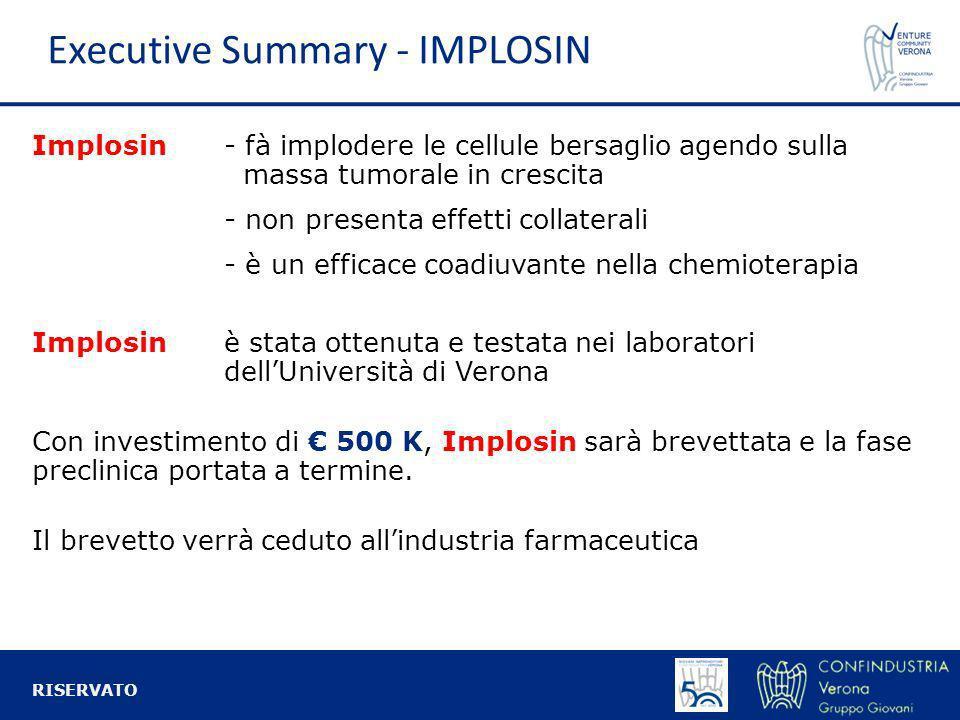 Implosin- fà implodere le cellule bersaglio agendo sulla massa tumorale in crescita - non presenta effetti collaterali - è un efficace coadiuvante nel