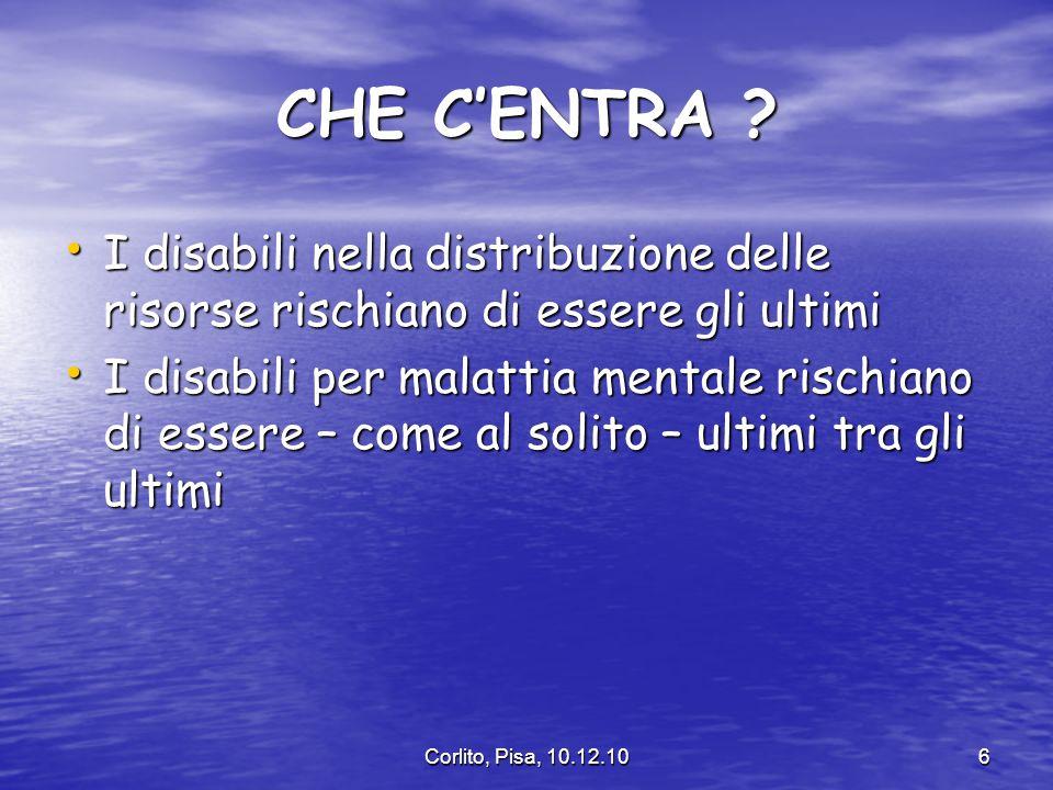 IL CCM E LA PIRAMIDE DI KAISER Corlito, Pisa, 10.12.1027 ALTISSIMO RISCHIO P.A.P.