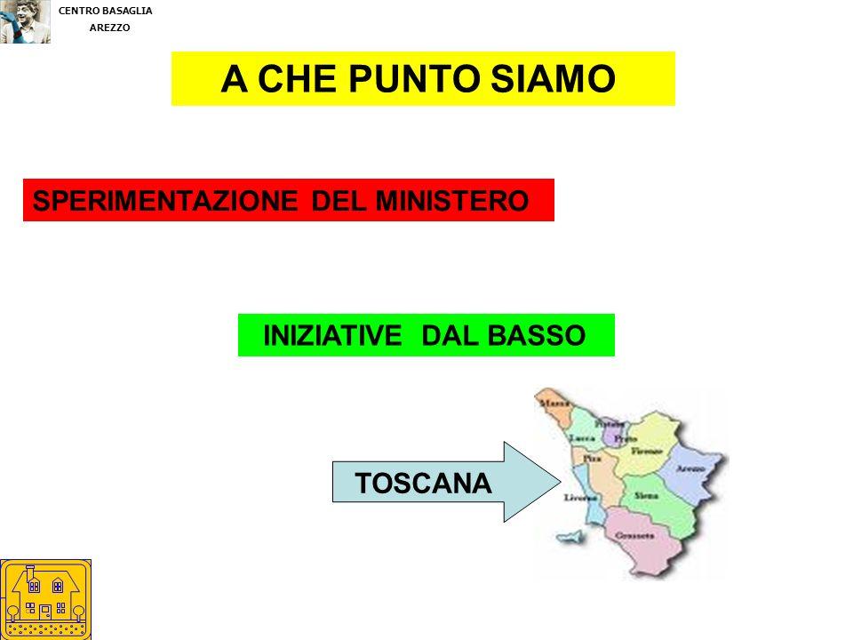 CENTRO BASAGLIA AREZZO A CHE PUNTO SIAMO SPERIMENTAZIONE DEL MINISTERO INIZIATIVE DAL BASSO TOSCANA