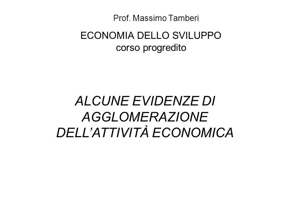 ECONOMIA DELLO SVILUPPO corso progredito Prof.
