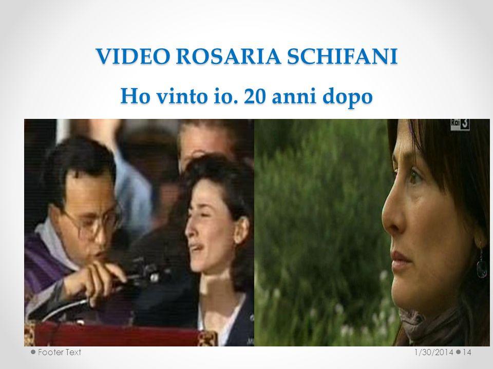 VIDEO ROSARIA SCHIFANI Ho vinto io. 20 anni dopo 1/30/2014Footer Text14