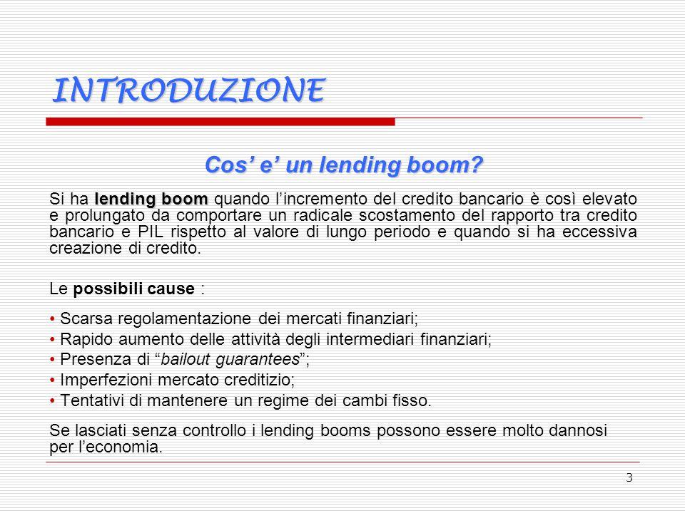 3 INTRODUZIONE Cos e un lending boom.