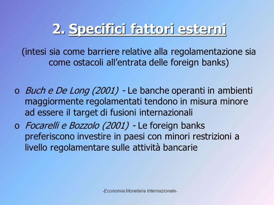 2. Specifici fattori esterni 2.