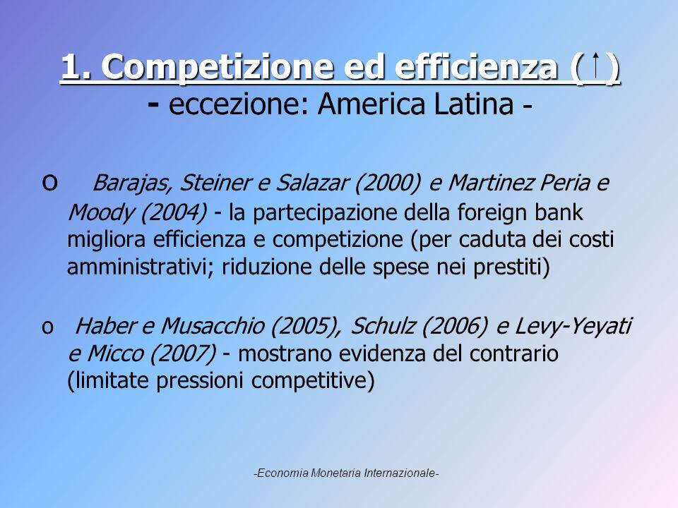 1. Competizione ed efficienza ( ) 1.