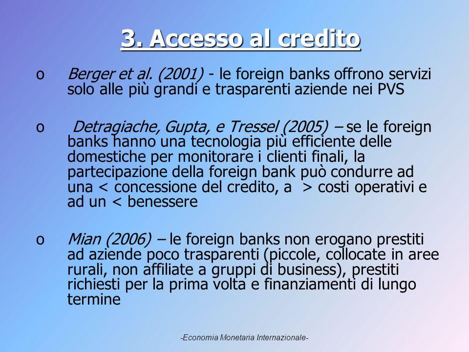 3. Accesso al credito oBerger et al.