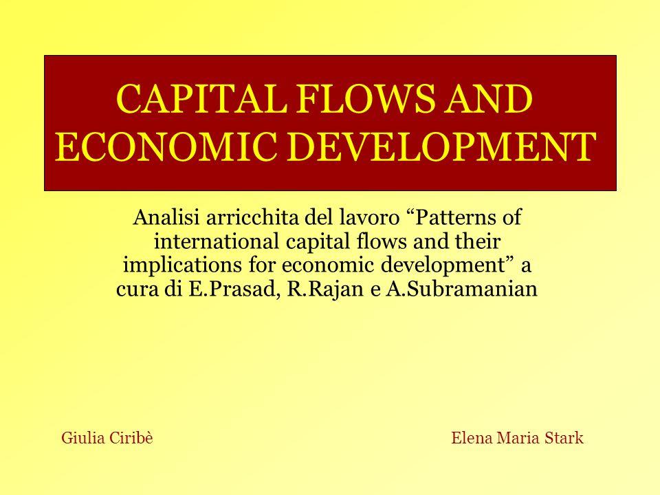 Anteprima: Lintegrazione finanziaria: tipologie dinvestimento, vantaggi e svantaggi Benefici/rischi degli investimenti diretti esteri (FDI o IDE) IDE e crescita Indicatori dellintegrazione finanziaria Evidenza empirica