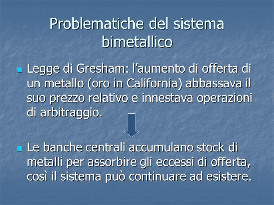2.Cambi fissi che permettessero però meccanismi di aggiustamento.