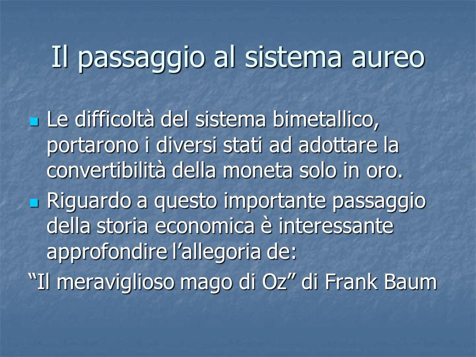 Lallegoria Il meraviglioso mago di Oz è unallegoria della politica monetaria e della situazione socio-economica degli U.S.A.