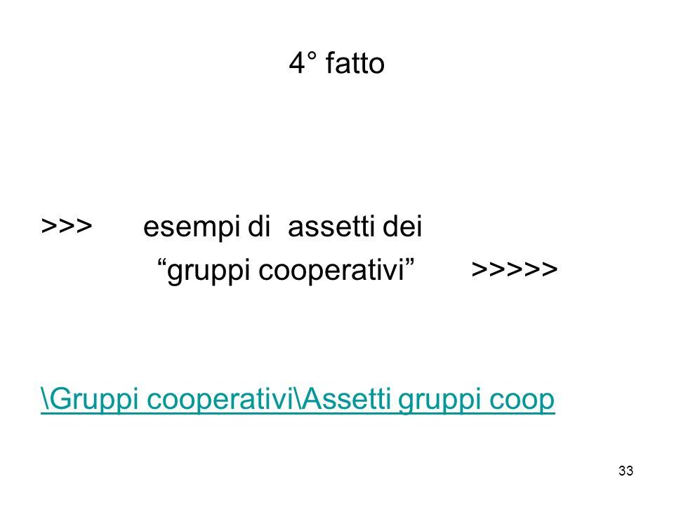 33 4° fatto >>> esempi di assetti dei gruppi cooperativi >>>>> \Gruppi cooperativi\Assetti gruppi coop