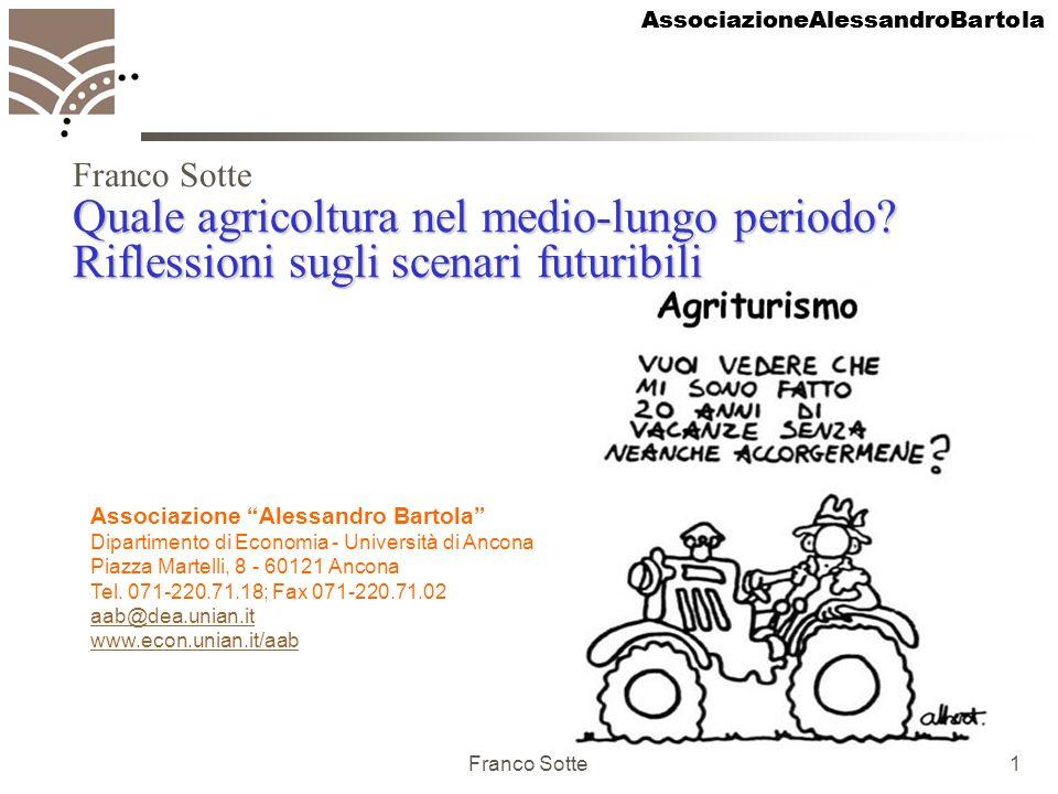 AssociazioneAlessandroBartola Franco Sotte1 Quale agricoltura nel medio-lungo periodo? Riflessioni sugli scenari futuribili Prospettive per il futuro
