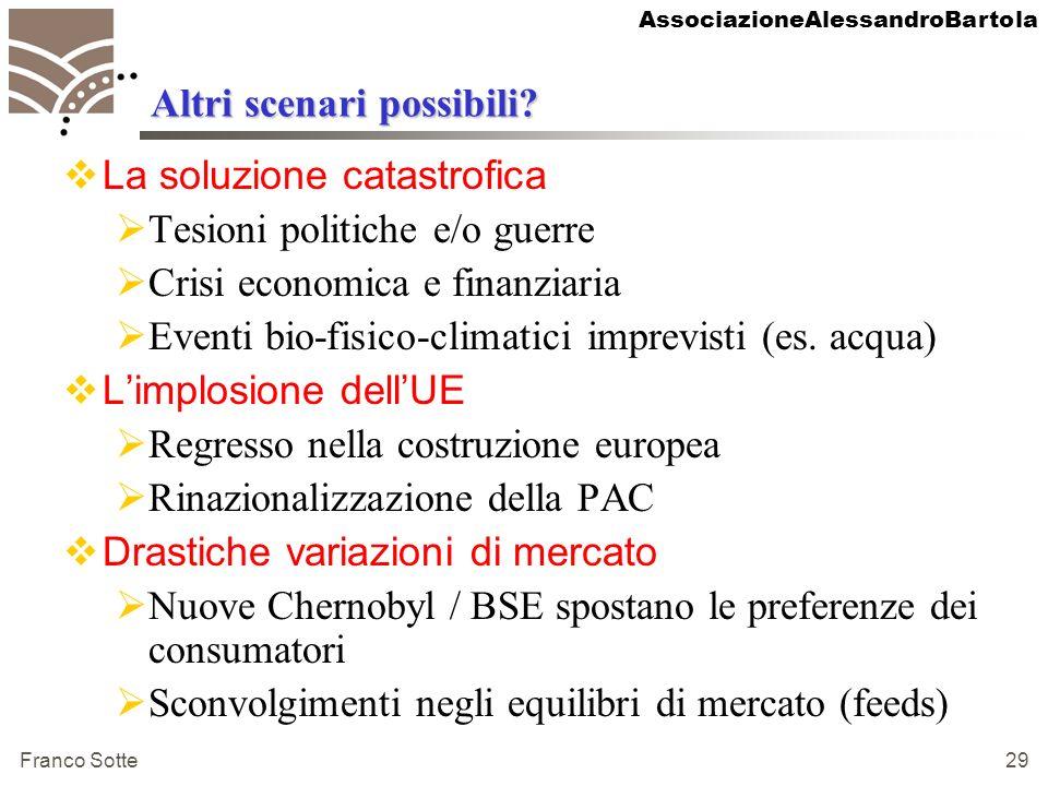 AssociazioneAlessandroBartola Franco Sotte 29 Altri scenari possibili.