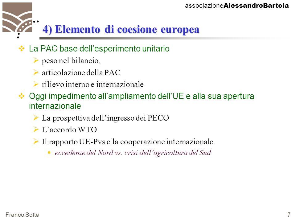 associazione AlessandroBartola Franco Sotte 48 Lapplicazione in Italia: come prima.