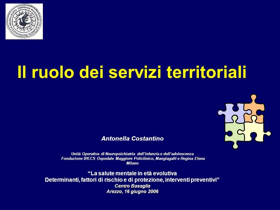 Servizio di NPIA/UFSMIA Indica linsieme coordinato delle diverse Unità Organizzative operanti in unarea specifica.