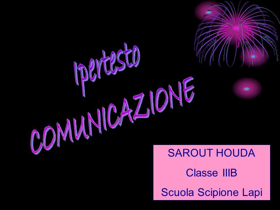 SAROUT HOUDA Classe IIIB Scuola Scipione Lapi