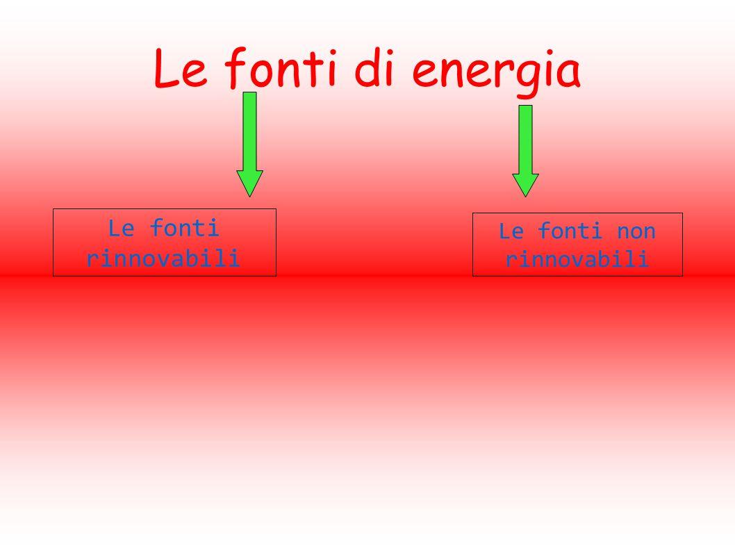 Le fonti di energia Le fonti rinnovabili Le fonti non rinnovabili